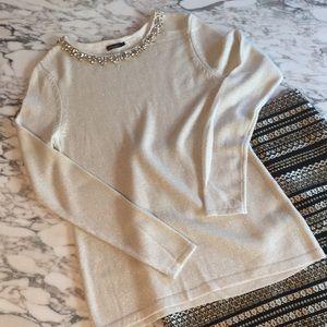 J. McLaughlin metallic embellished sweater sz S